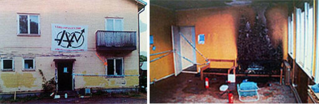 Attacken mot husockupationen i Agnesberg 2008.
