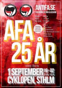 AFA 25-års jubileum.