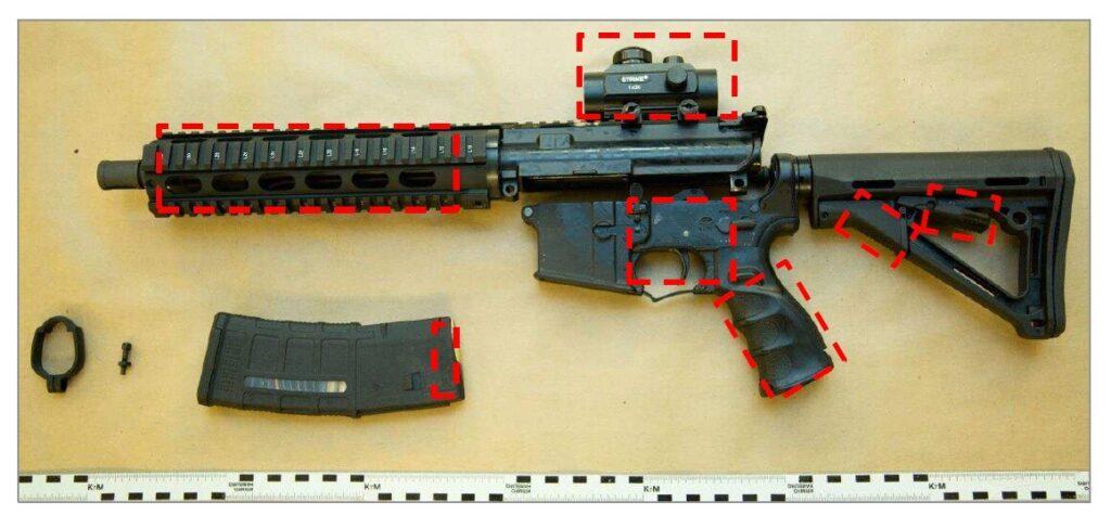 Beslagtagen AR-15.