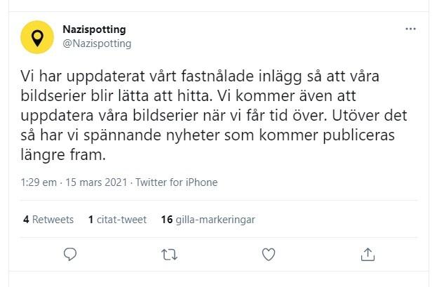 Ny hemsida nazispotting.se