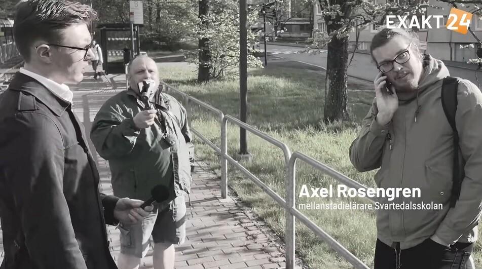 Axel Rosengren söker hjälp från polisen.