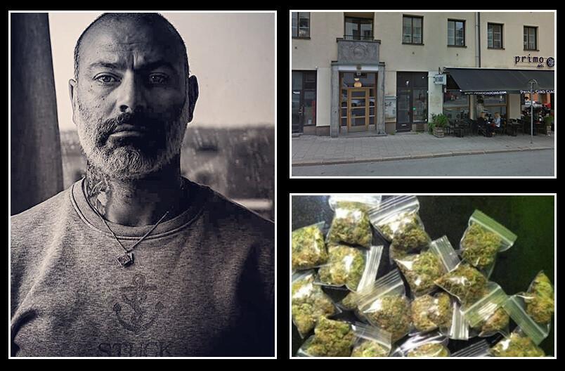 Vid Bondegatan 44 sålde Ayman Osman marijuana innan polisen grep han på plats. Genrebild/kollage.