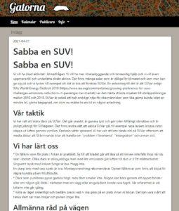 Gatorna.info Sabba en SUV!
