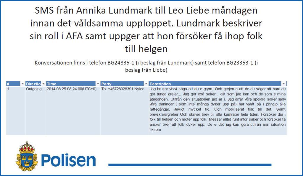 Annika Lundmark AFA Revolutionära Fronten
